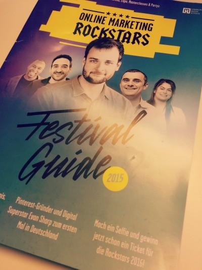 Festivalguide Online Marketing Rockstars 2015