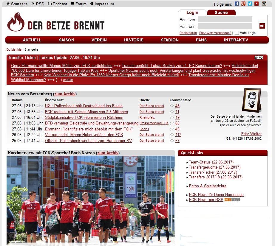 Screenshot: der-betze-brennt.de