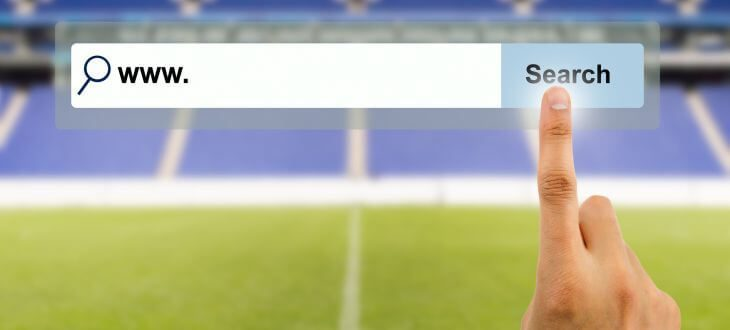Virtueller Suchschlitz in Stadion