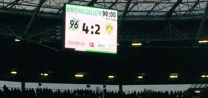 #niemalsallein: Hannover 96 Claim