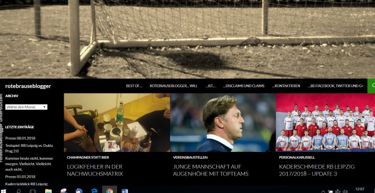 Screenshot Sport-Blog rotebrauseblogger.de
