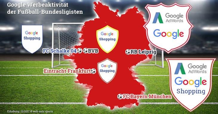 Deutschlandkarte SEA-Aktivitäten der Fußball-Clubs
