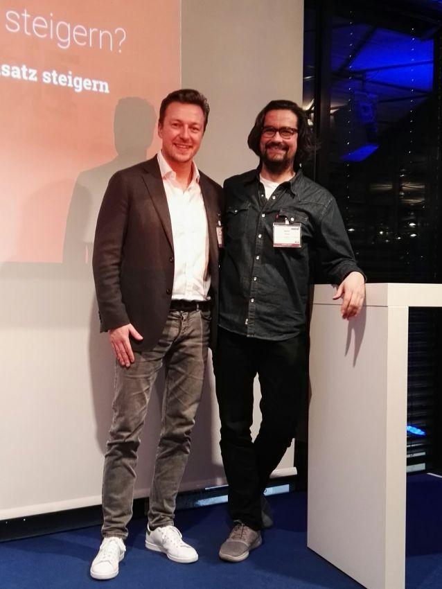 Felix Benckendorff (web-netz) und Martin Drust (FC St. Pauli) bei der SPOBIS Masterclass