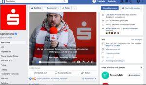 Facebook-Seite Sparkasse mit Fanreporter