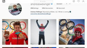 Instagram Account von Andreas Wellinger