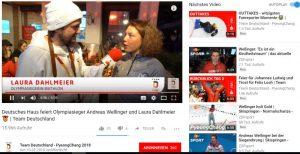 YouTube-Channel Team Deutschland, Fanreporter der Sparkasse mit Dahlmeier