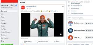 Viessmann Sport Facebook Seite