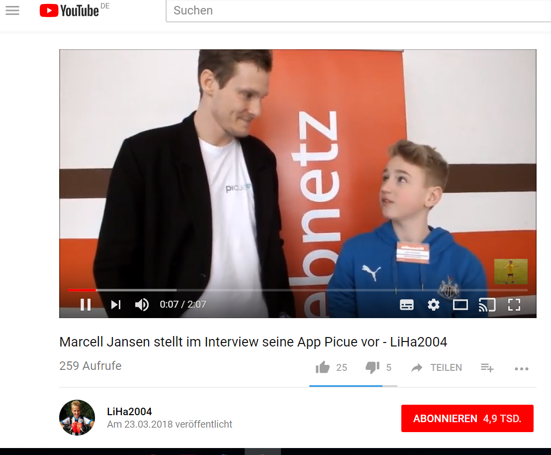 Screenshot YouTube LiHa Marcell Jansen