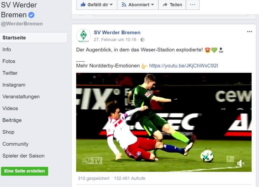 SV Werder Bremen Facebook