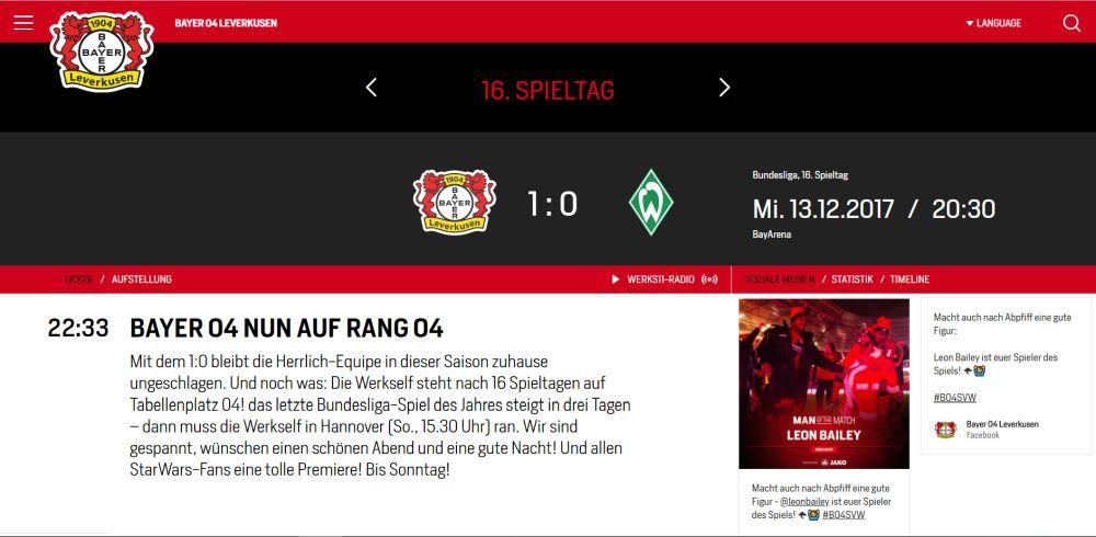 Bayer04: 16.Spieltag