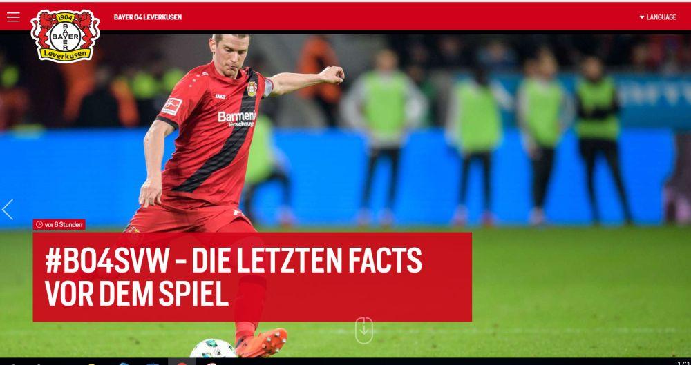 Bayer04: Die letzten Fact vor dem Spiel