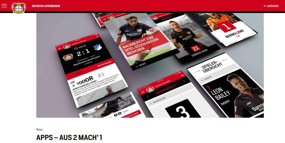Bayer04: Apps Aus 2 Mach' 1