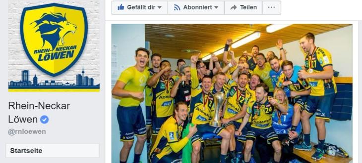 Rhein-Neckar Löwen: Pokalsieg 2018, Facebook-Auftritt