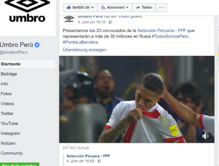 WM umbro Facebook Guerrero