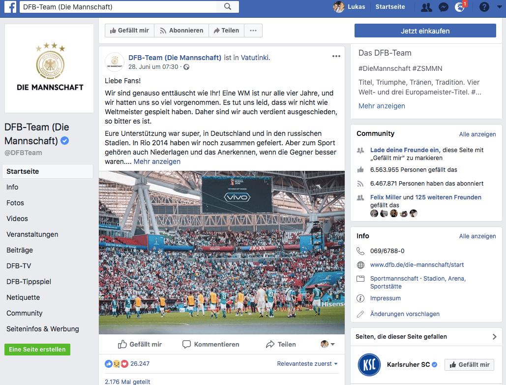 Facebook: DieMannschaft