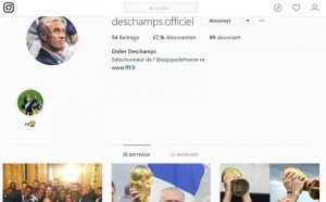 Instagram: Didier Deschamps