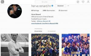Instagram: Hervé Renard