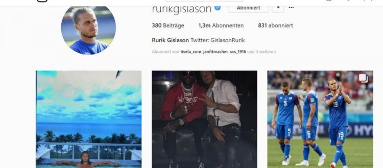 Instagram-Account von Rurik Gislasons