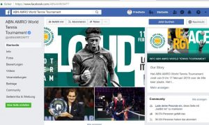 Facebook-Account ABN AMRO World Tennis Tournament in Rotterdam