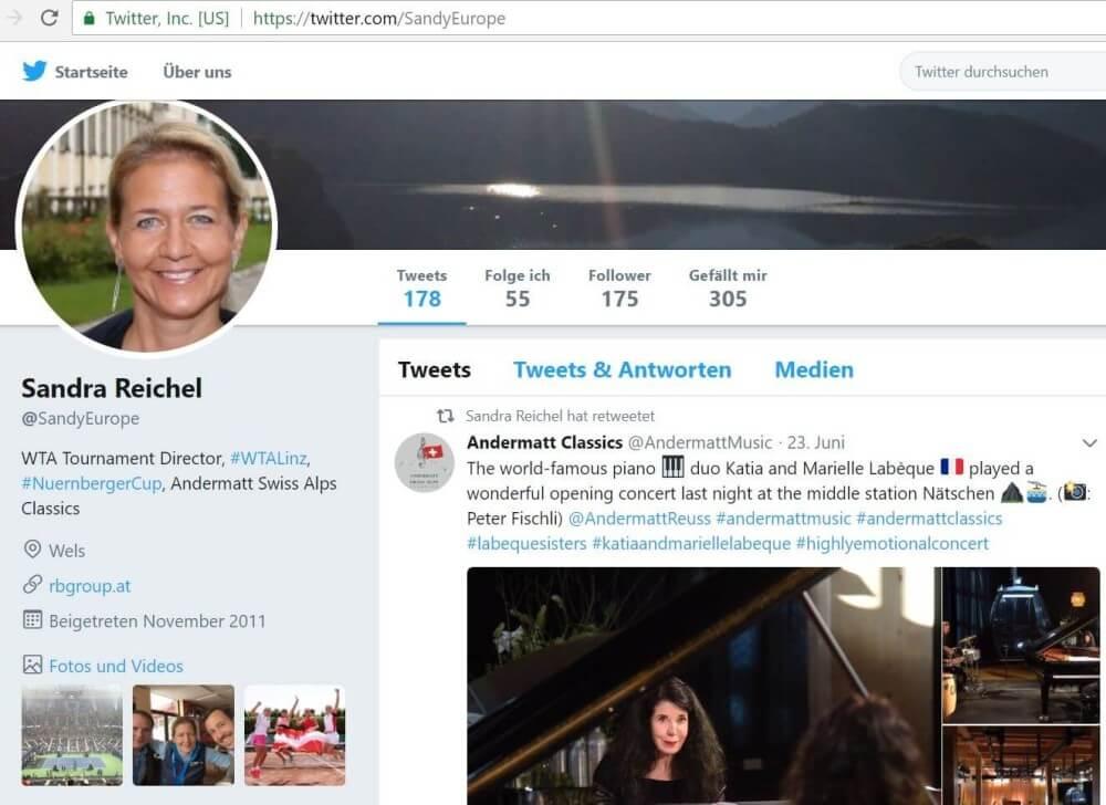 Twitter-Account von Sandra Reichel