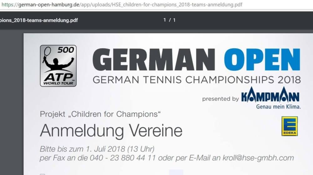 """Faxen: Erste Wahl für Anmeldungen für Vereine beim Projekt """"Children for Champions"""""""