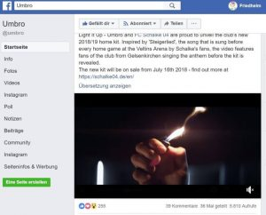 Facebook: Umbro