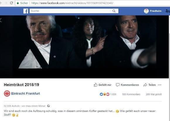 """Facebook: Ankündigungsvideo mit Claim """"Feinster Frankfurter Stoff"""""""