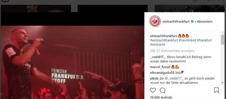 Eintracht Frankfurt Instagram