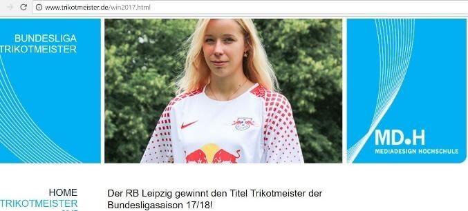 Das schönste Trikot der Bundesligasaison 17/18: RB Leipzig