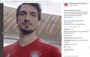 adidas mit FC Bayern München auf Instagram
