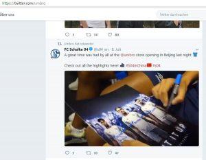 Twitter: Umbro Store Opening