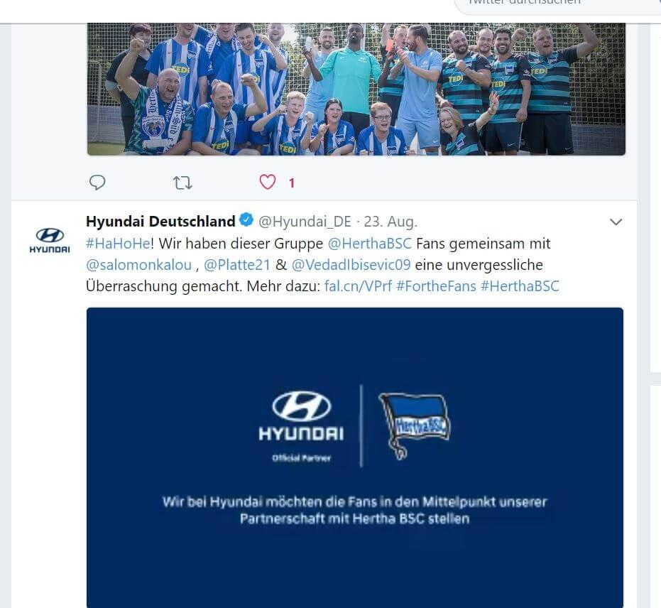 Hyundai Twitter Hertha