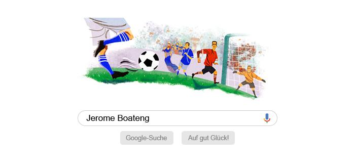 Google Suchseite mit Jerome Boateng