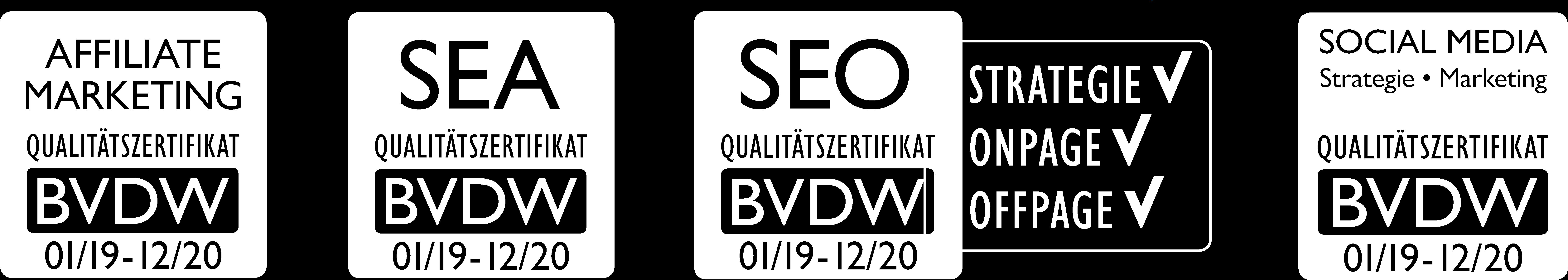 Negativbild diverser Zertifikate 2019