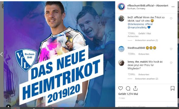 VfL Bochum auf Instagram