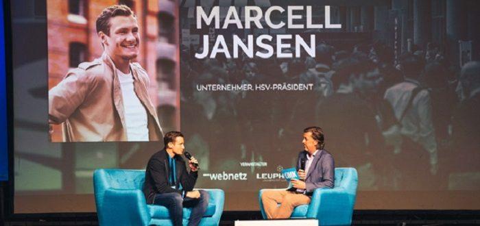 Talk auf der OMK-Bühne mit Marcell Jansen