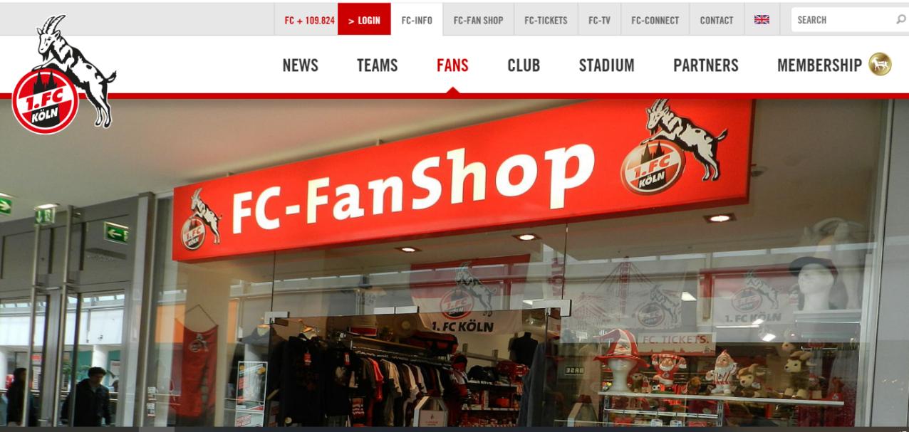Bild eines Fan-Shops des 1. FC Köln