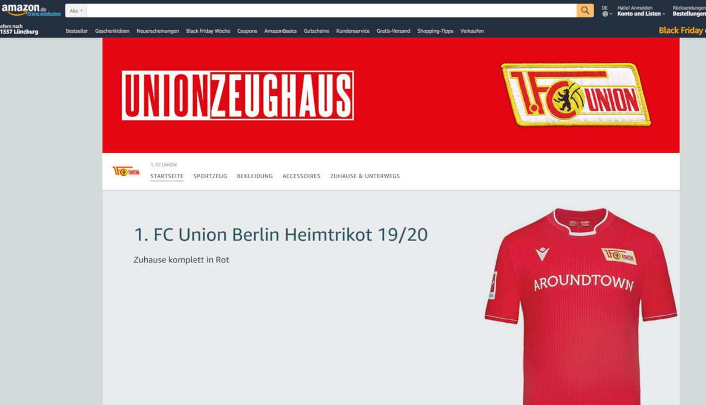 Screenshot Amazon Store Union Berlin