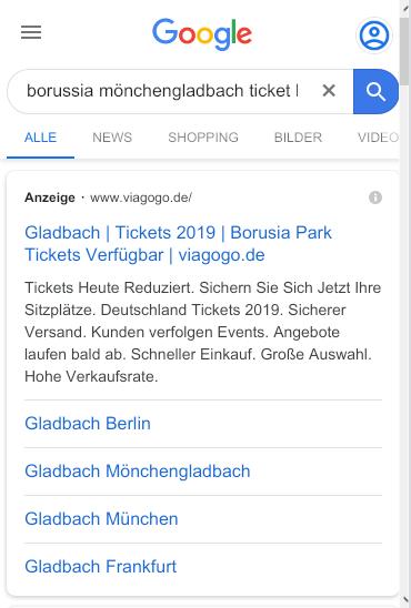 Mobiles Suchergebnis Mönchengladbach