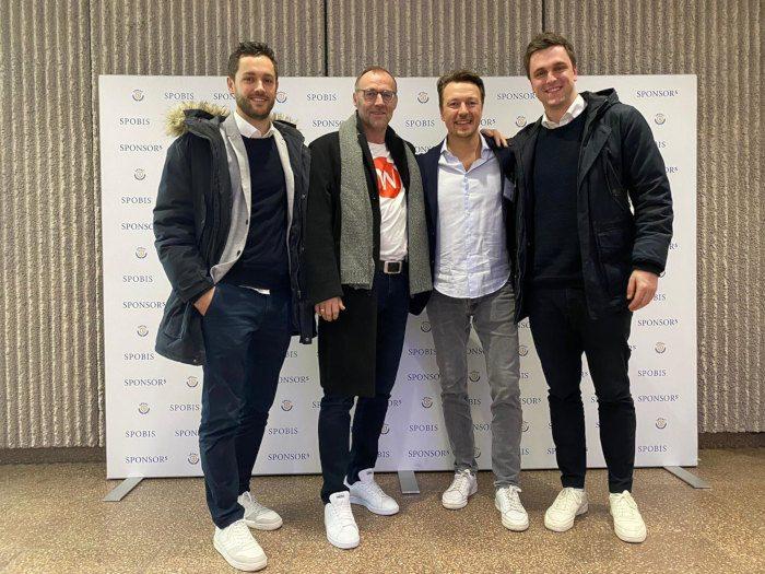 Vier Mitarbeiter von web-netz beim SpoBis