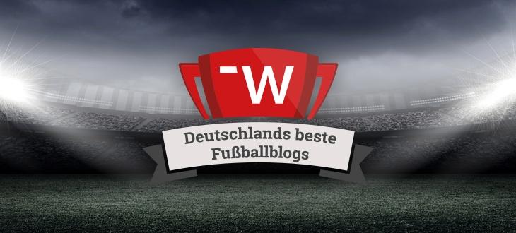 Banner mit der Aufschrift 'Deutschlands beste Fußballblogs'