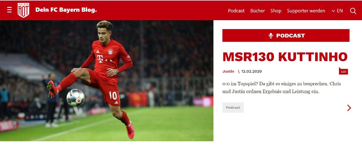Screenshot der Website miasanrot.de
