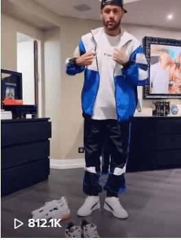 Videoclip mit Neymar Jr auf dem Puma Tiktok-Kanal