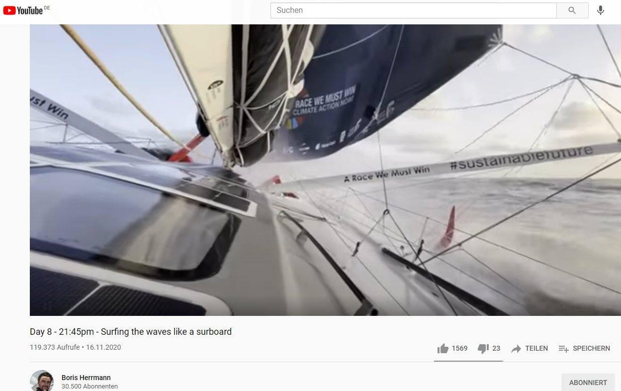 Screenshot YouTube Kanal von Boris Herrmann