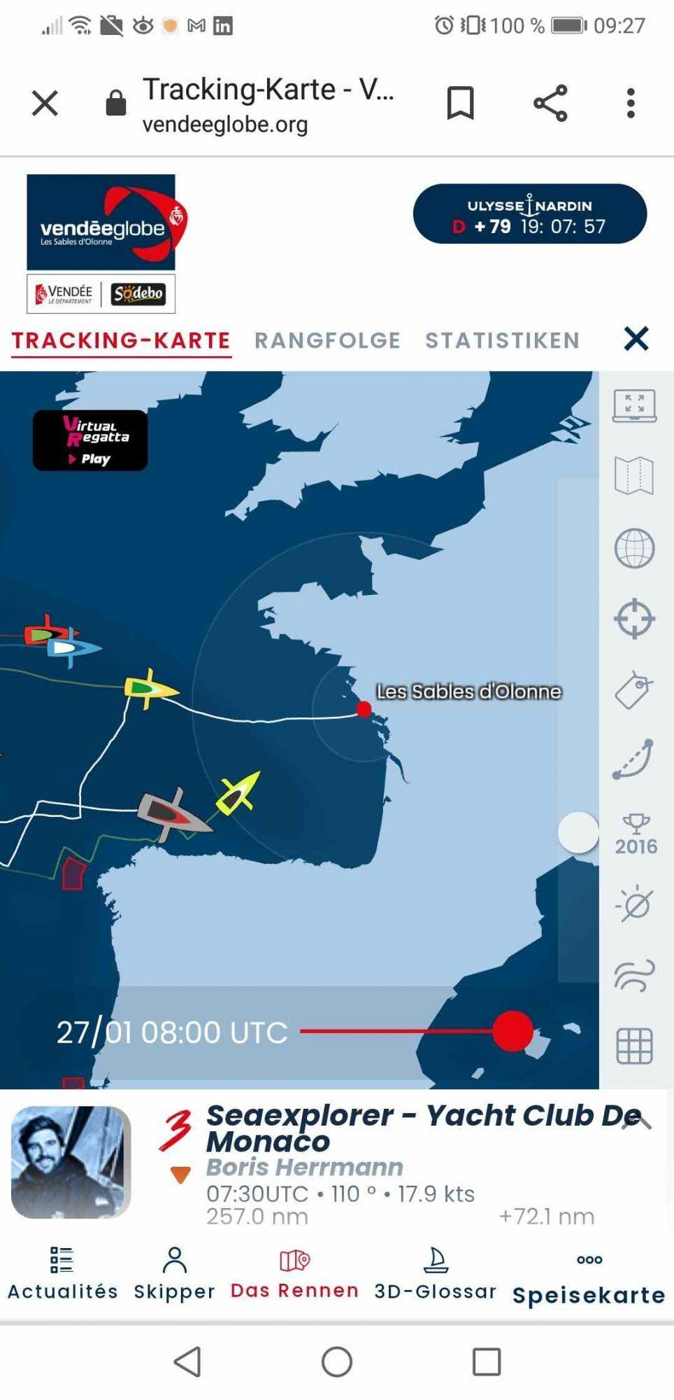 Tracking-Karte von Boris Herrmann