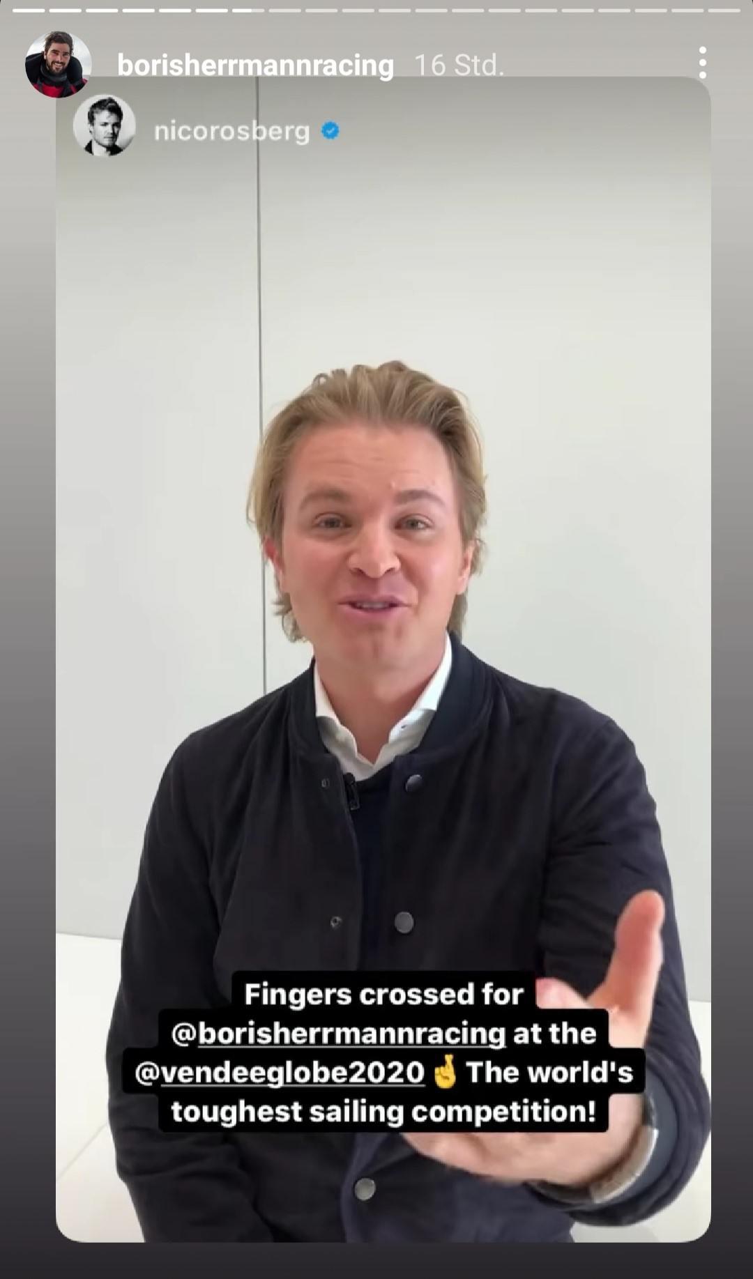 Screenshot Instagram Story Nico Rosberg