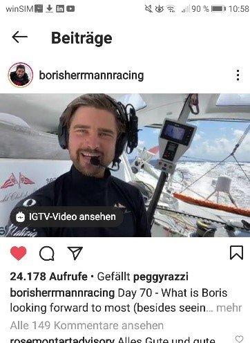 Screenshot Instagram Story Boris Herrmann