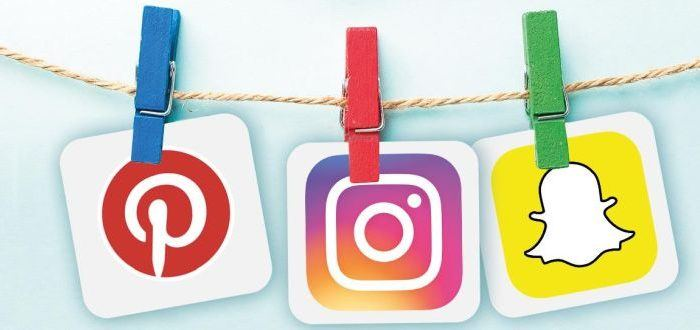 Social-Icons an Wäscheklammern