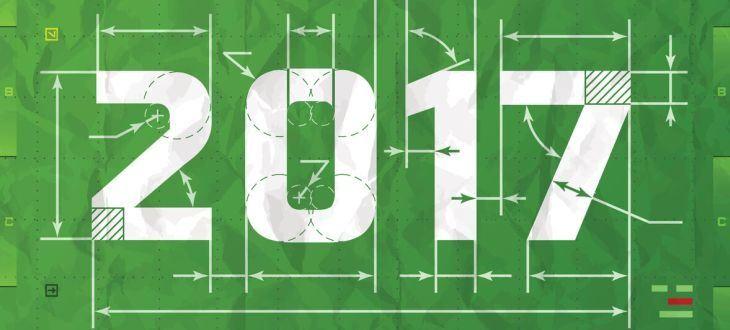 Fussballfeld mit 2017 bedruckt